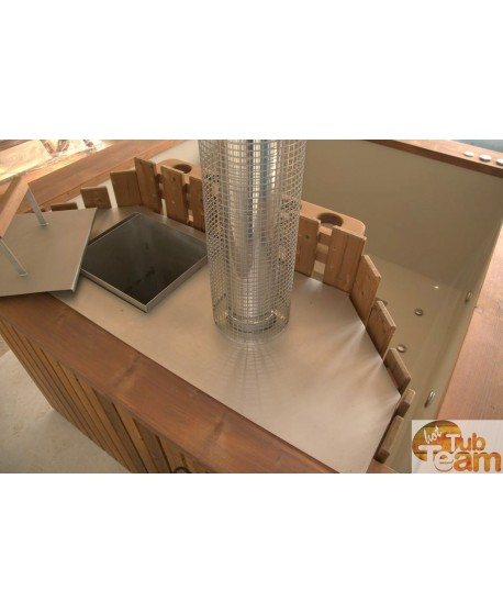 Stainless steel cover for internal stove