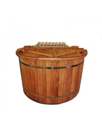 plastic oak hot tub