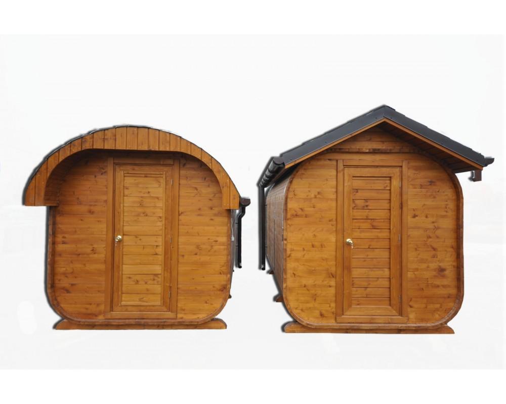Outdoor garden sauna