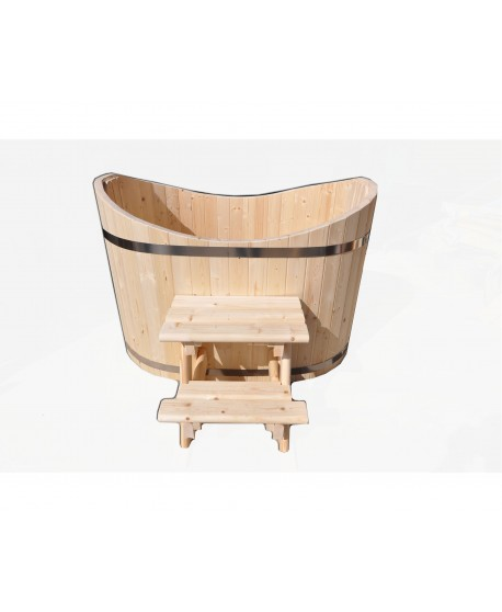 Wooden ofuro tub