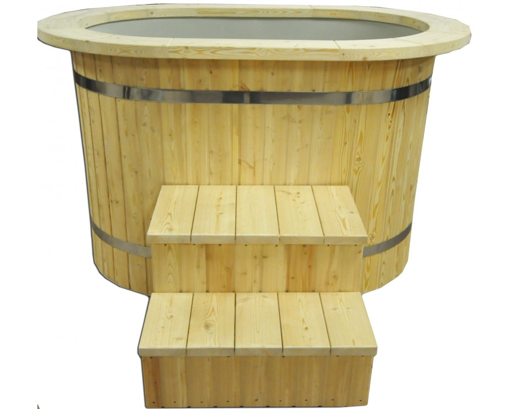 Japanese Ofuro tub with plastic liner