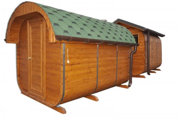 Oval roof sauna