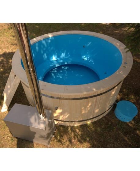 Plastic tub with wood trim 220 cm