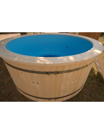 Plastic tub with wood trim 220 cm