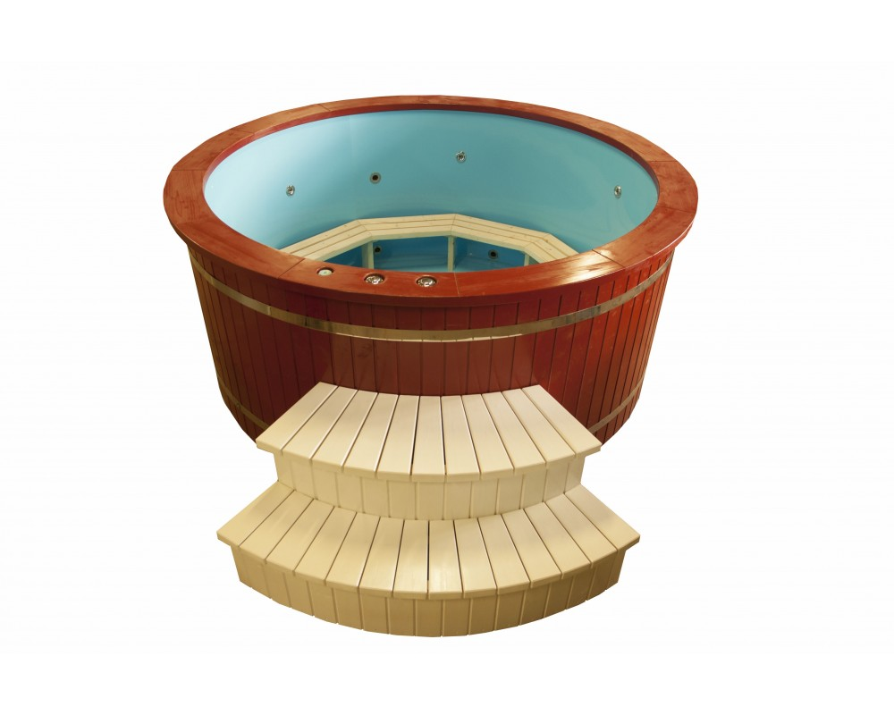 Painted hot tub
