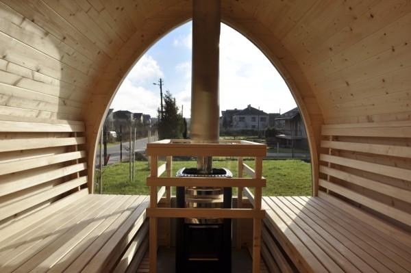 Sauna su panoraminiu langu