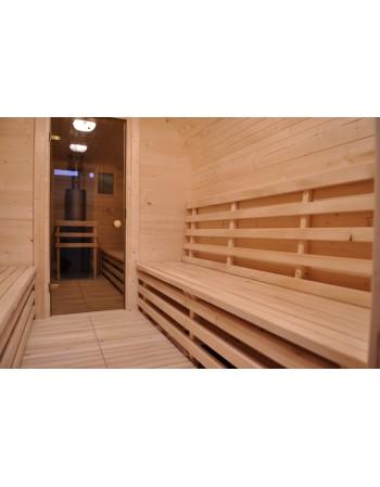 Wooden garden sauna
