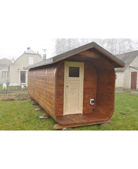 Wooden outdoor sauna