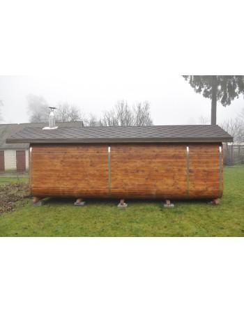 Dvišlaičio stogo ovali pirtis 7 metrai