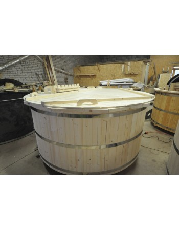 spruce wood hot tub