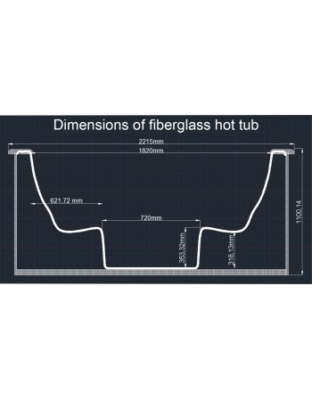 Fibreglass hot tub exclusive creamy colour 2m.