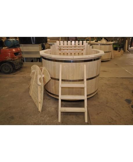 wooden hot tub