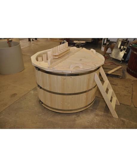 outdoor wooden tub