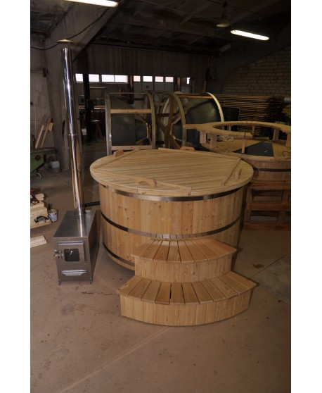 hot tub made of wood