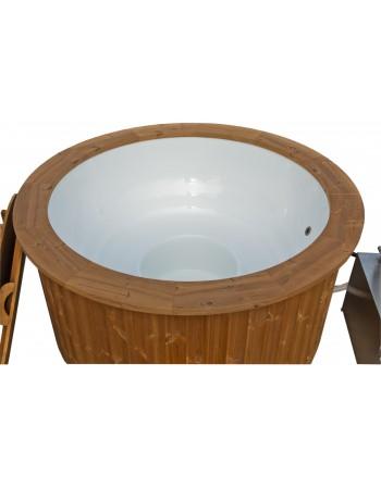 Fiberglass hot tub for family