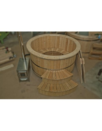 Wooden hot tub made of larch 180cm