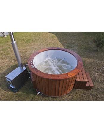 Hot tub made of fiberglass