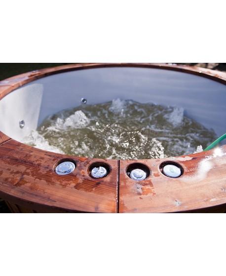 Hot tub made of fiberglass