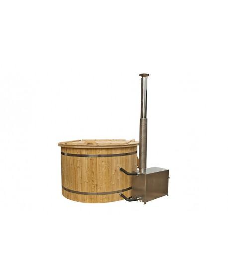 Wood fired plastic hot tub 1.6 m