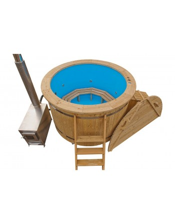 Wood fired plastic hot tub 1.6 m