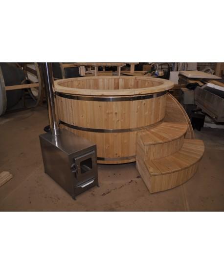 larch wood hot tub