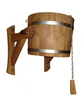 Wooden bucket - shower 20l