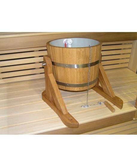 Wooden bucket - shower 20l
