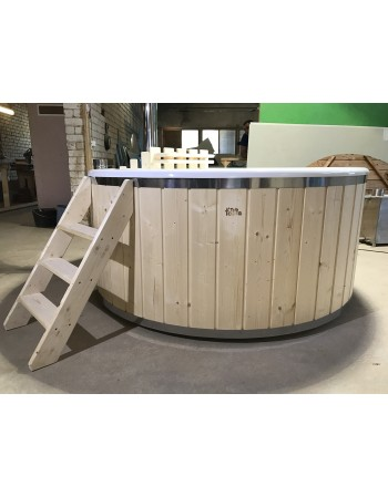 not expensive hot tub with fiberglass liner 1.8 m
