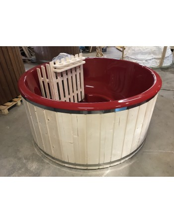 Cheap hot tub with fiberglass liner 1.8 m