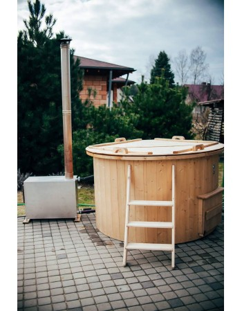 Plastic spruce hot tub