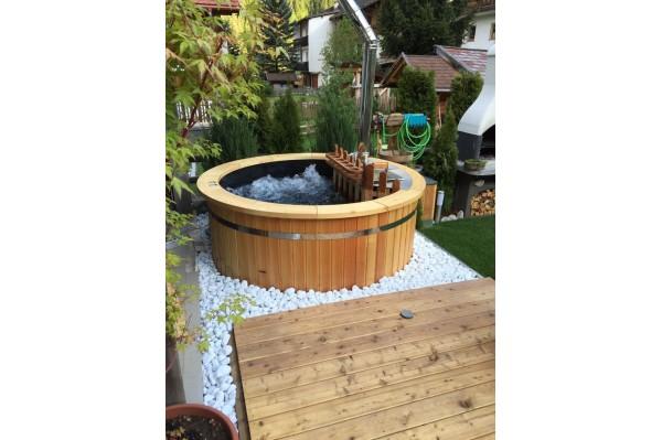 plastic thermowood hot tub