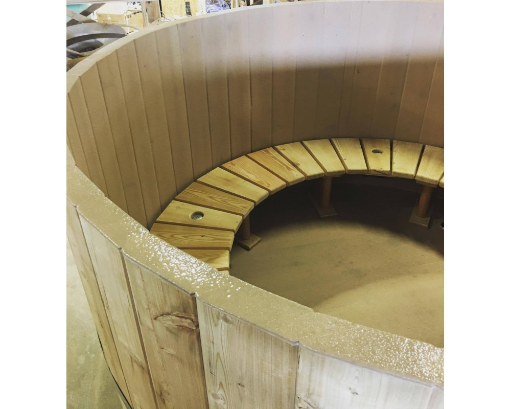 Hot tub wooden S type seats