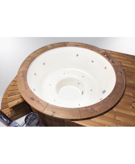 fiberglass lined hot tub