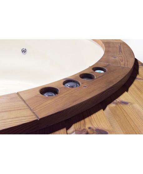wooden hot tub sill