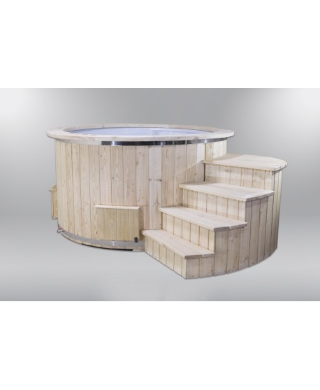 Outdoor electric hot tub with 2 heaters