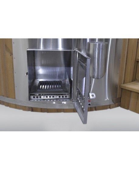 integrated hot tub stove