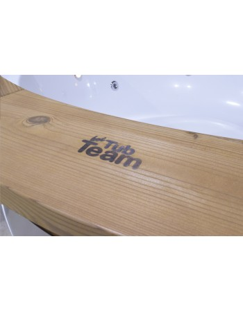wooden sill for hot tub