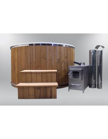 Wood fired hot tub