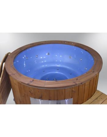 Outdoor hot tub SPA blue color