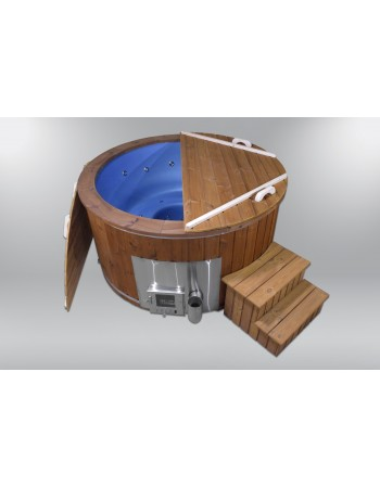 Outdoor hot tub SPA blue color
