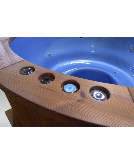wooden hot tub sill