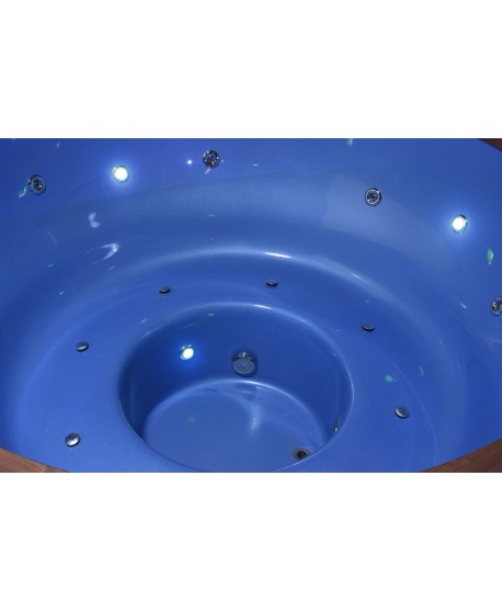 inside of hot tub