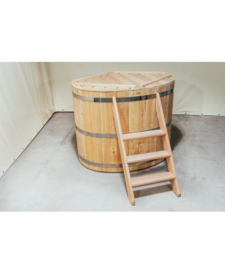 wooden bath