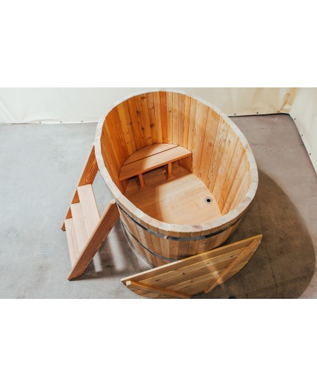 wooden ofuro bath