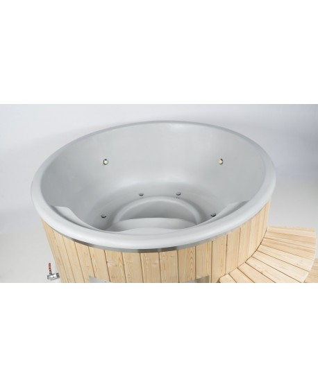 Fiberglass lined outdoor SPA - hot tub