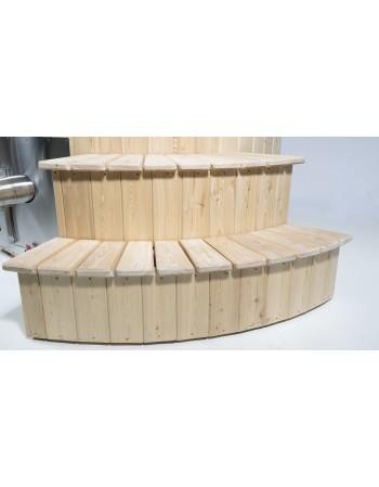 steps for hot tub