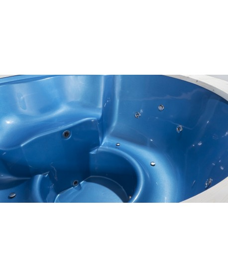 Fiberglass hot tub model in blue pearl color!