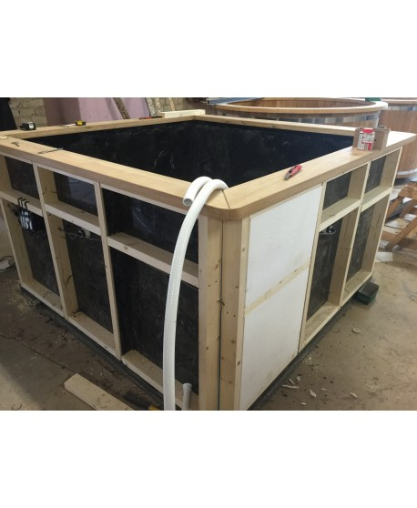 Thermal wall insulation for hot tub