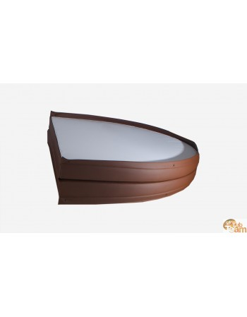 Leather hot tub lid
