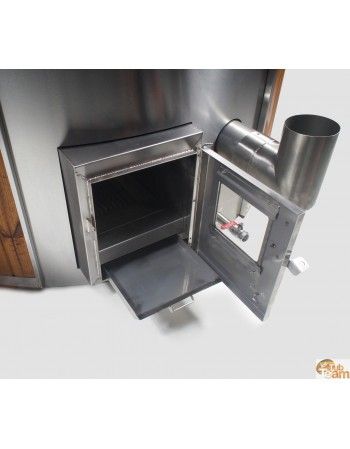 integrated stove for hot tub
